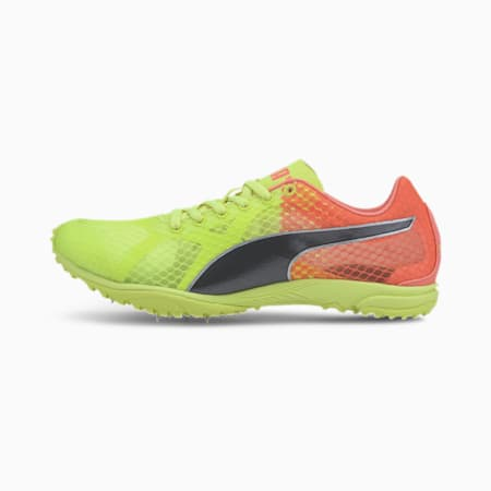 evoSPEED Haraka 6 Track and Field Boots, Fizzy Yellow-NRGY Peach-Blk, small-IND