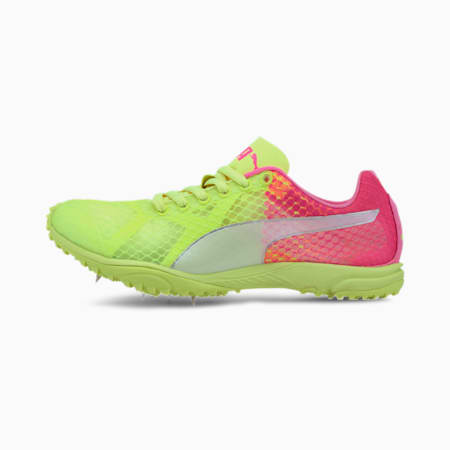 Zapatos con tacos evoSPEED Haraka 6 Distance, Fizzy Yellow-Pink-White, pequeño