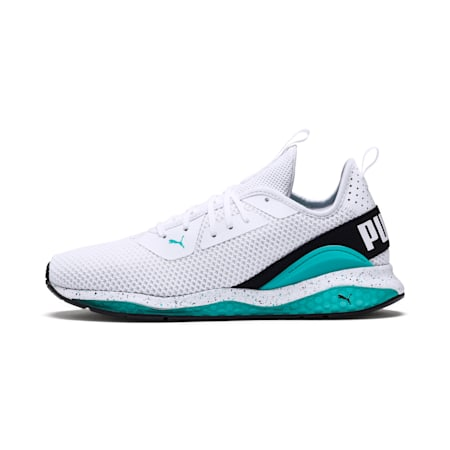 Cell Descend Weave Running Shoes, White-Black-Blue Turquoise, small-IND