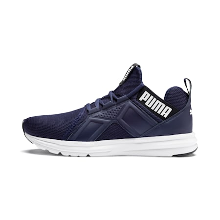Enzo Sport Men's Running Shoes, Peacoat-Puma White, small-IND