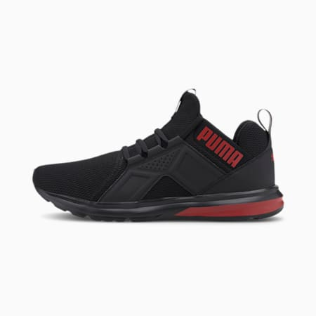 Enzo Sport Men's Running Shoes, Puma Black-High Risk Red, small-IND