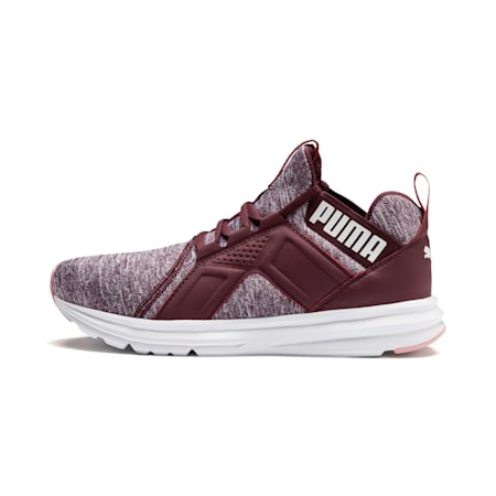 Enzo Heather Women's Sneakers, Wine-Bridal Rose-White, small