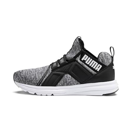Enzo Heather Women's Sneakers, Black-CASTLEROCK-White, small