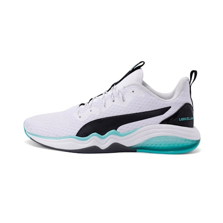 LQDCELL Tension Men's Training Shoes, Puma White-Blue Turquoise, small-IND