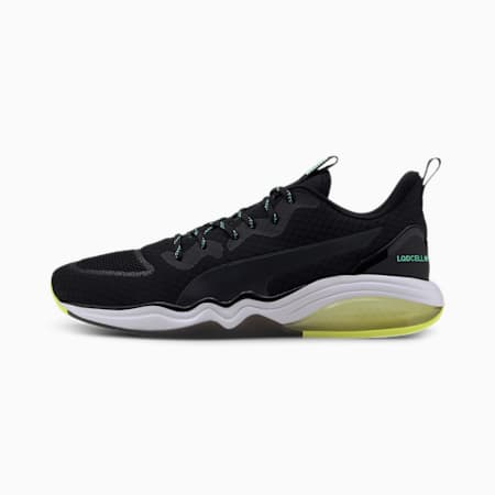 LQDCELL Tension Men's Training Shoes, Puma Black-Yellow Alert, small-SEA