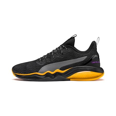 LQDCELL Tension Rave Men's Training Shoes, Puma Black-Orange Alert, small