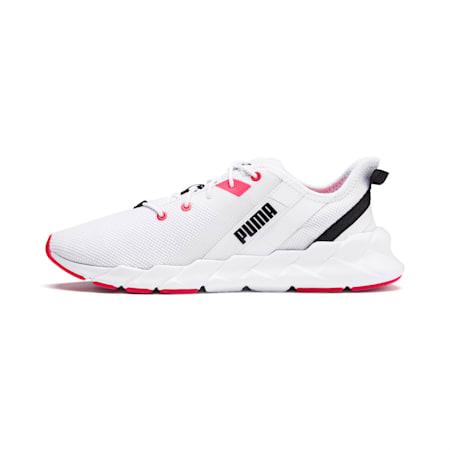 Zapatos de entrenamiento Weave XT para mujer, Puma White-Pink Alert, pequeño