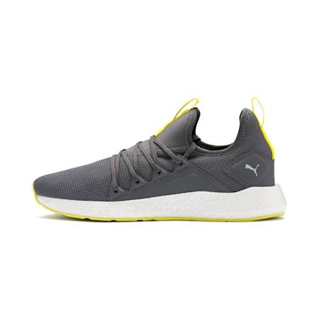 NRGY Neko Lights Men's Running Shoes, CASTLEROCK-Yellow Alert, small-IND