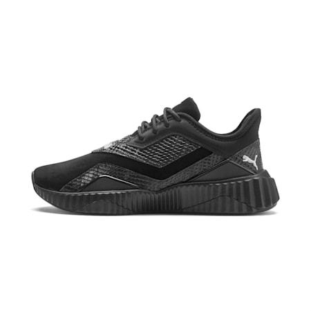 Defy Stitched Croc Women's Training Shoes, Puma Black-Puma White, small