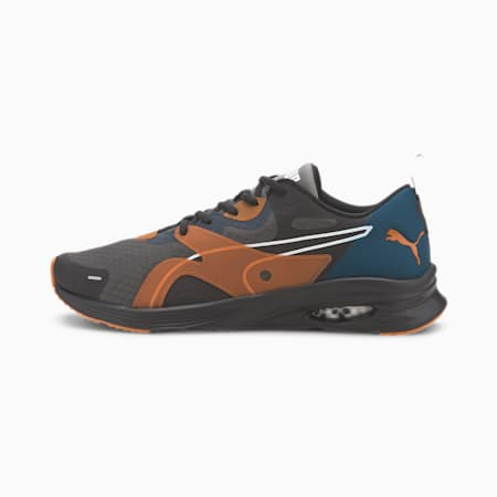 Zapatos para correr HYBRID Fuego para hombre, Gibraltar Sea-Jaffa Orange, pequeño