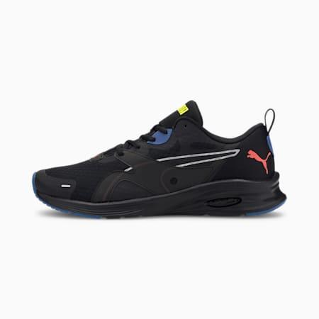 HYBRID Fuego Men's Running Shoes, Black-Lava Blast-Yellow, small