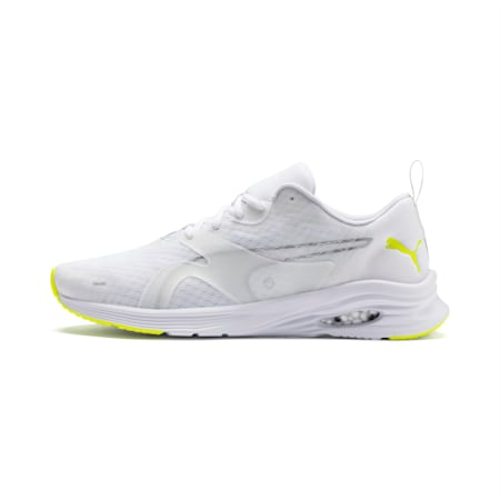 HYBRID Fuego Lights Men's Running Shoes, Puma White-Yellow Alert, small