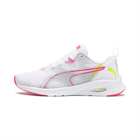 HYBRID Fuego Women's Running Shoes, White-PinkAlert-YellowAlert, small-IND