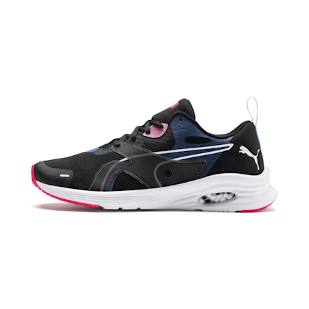 HYBRID Fuego Women's Running Shoes, Black-Blue Glimmer-Nrgy Rose, small-IND
