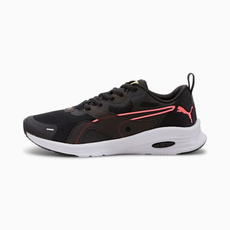 HYBRID Fuego Women's Running Shoes, Puma Black-Yellow Alert, small-SEA