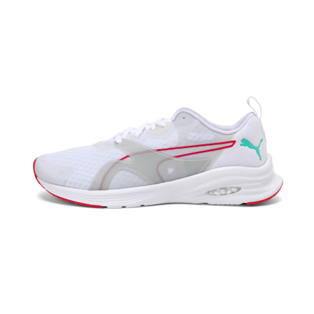 HYBRID Fuego Women's Running Shoes, White-Rosewater-GreenGlimmer, small-IND