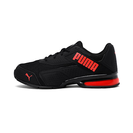 Leader VT NU Training Shoes, Puma Black-High Risk Red, small-IND