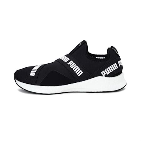 NRGY Star Slip-On Walking Shoes, Puma Black-Puma White, small-IND