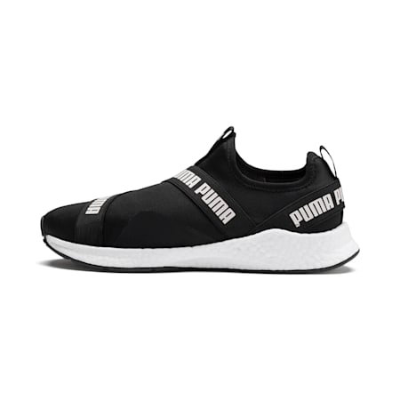 NRGY Star Slip-On Walking Shoes, Black-Pearl-White, small-IND