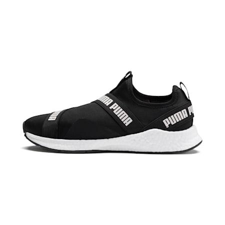 NRGY Star Men's Slip-On Running Shoes, Black-Pearl-White, small