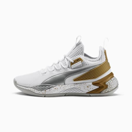 Uproar Core Herren Basketballschuhe, Puma White-Metallic Silver, small