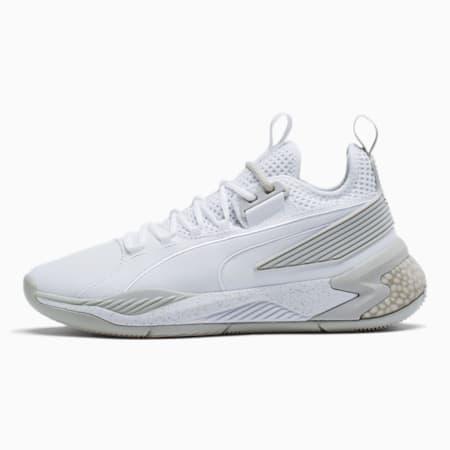 Uproar Core Basketball Shoes, Puma White-Puma White, small