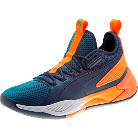 Uproar Charlotte Basketball Shoes, Orange- PURPLE, small-SEA