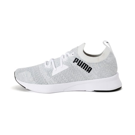 Flyer Runner Engineered Knit Men's Running Shoes, Puma White-Quarry-Puma Black, small