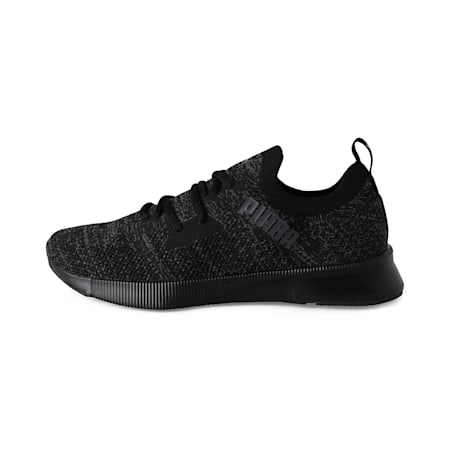 Zapatos de hombre Flyer Runner Engineer Knit para correr, Puma Black-Asphalt, pequeño