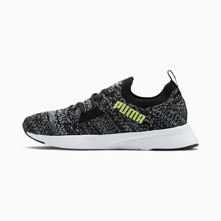 Flyer Runner Engineered Knit Men's Running Shoes, Black-White-Yellow Alert, small