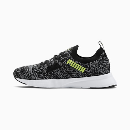Chaussure de course Flyer Runner Engineered Knit pour homme, Black-White-Yellow Alert, small
