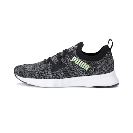 Flyer Runner Engineered Knit SoftFoam+ Men's Running Shoes, Black-White-Fizzy Yellow, small-IND