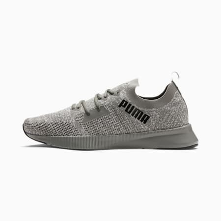 Chaussure de course Flyer Runner Engineered Knit pour homme, Ultra Gray- White- Black, small