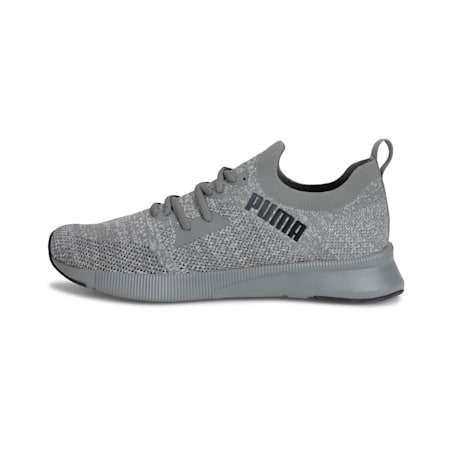 Flyer Runner Engineered Knit SoftFoam+ Men's Running Shoes, Ultra Gray- White- Black, small-IND
