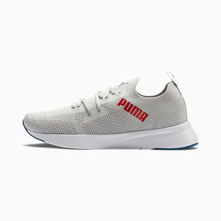 Flyer Runner Engineered Knit Men's Running Shoes, Gray Violet-White-Red, small