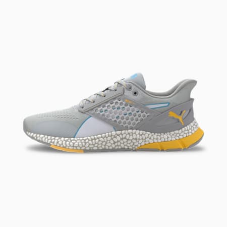 Zapatos para correr HYBRID Astro para hombre, High Rise-Blue-ULTRA YELLOW, pequeño
