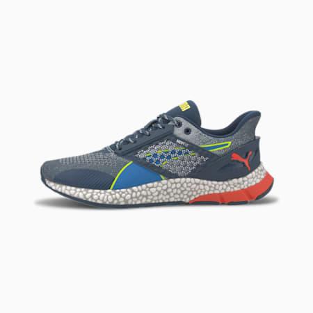 Zapatos para correr HYBRID Astro para hombre, Dark Denim-Blue-Yellow, pequeño