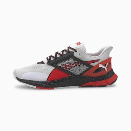 HYBRID NETFIT Astro Men's Running Shoes, White-Black-High Risk Red, small-SEA