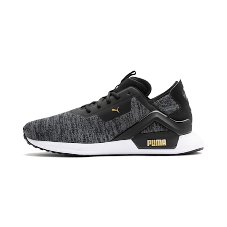 Rogue X Knit Men's Shoes, Black-CASTLEROCK-Gold, small-IND
