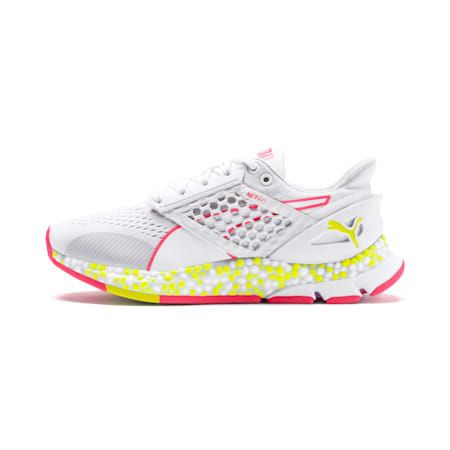 HYBRID Astro Women's Running Shoes, White-Yellow Alert-Pnk Alert, small