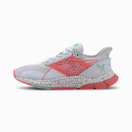 HYBRID NETFIT Astro Women's Running Shoes, White-Pink-Green Glimmer, small-IND