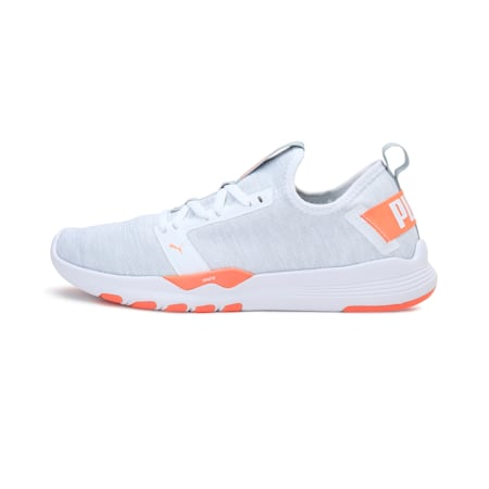 IGNITE Contender Knit Women's Running Shoes, White-High Rise-Orange, small-IND