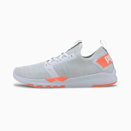 IGNITE Contender Knit Women's Running Shoes, White-High Rise-Orange, small