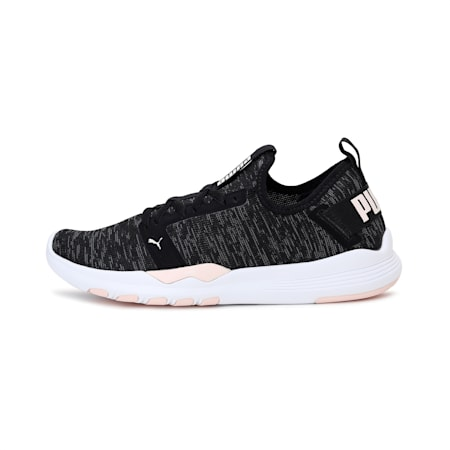 IGNITE Contender Knit Women's Running Shoes, Black-CASTLEROCK-Rosewater, small-IND