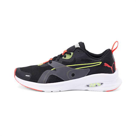 HYBRID Fuego Youth Shoes, Puma Black-Nrgy Yellow, small-IND