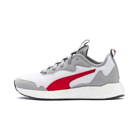 NRGY Neko Skim Youth Trainers, White-H Rise-CASTLEROCK-Red, small