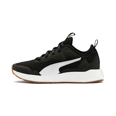 NRGY Neko Skim SoftFoam+ Running Shoes JR, Puma Black-Puma White, small-IND
