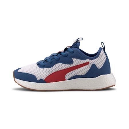 NRGY Neko Skim SoftFoam+ Running Shoes JR, Puma White-Red-Bright Cobalt, small-IND