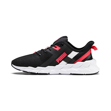 Weave XT Youth Shoes, Black-White-Calypso Coral, small-IND
