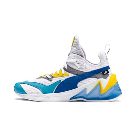 LQDCELL Origin Men's Training Shoes, Puma White-B Blue-Blz Yellow, small